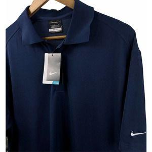 Nike Golf Dri-Fit Polo Shirt Navy Blue Large NWT